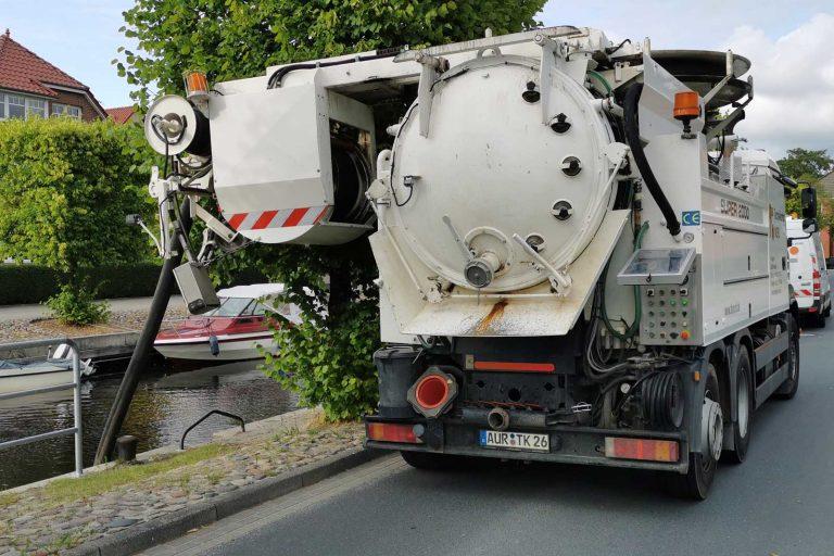 Spülwagen der Kanalreinigung und Kanalinspektion