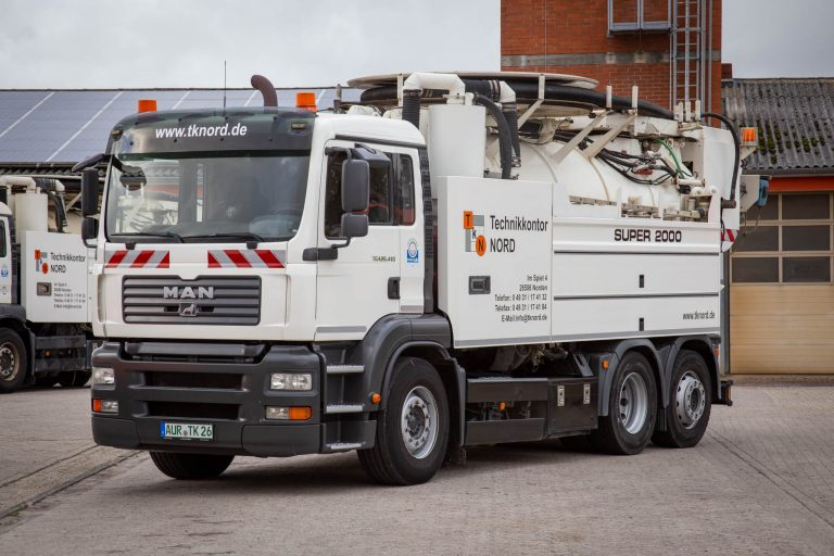 Spülwagen der Kanalreingung und Kanalinspektion